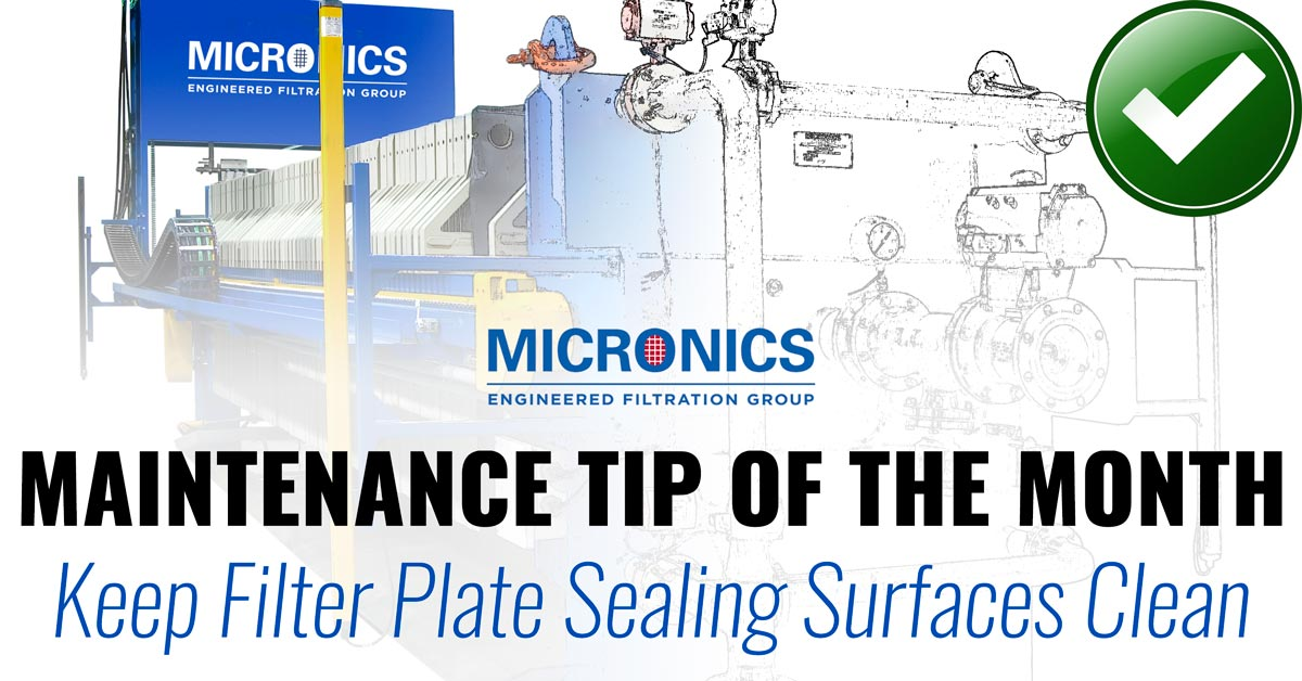 Filter Plate Sealing Surface Inspection