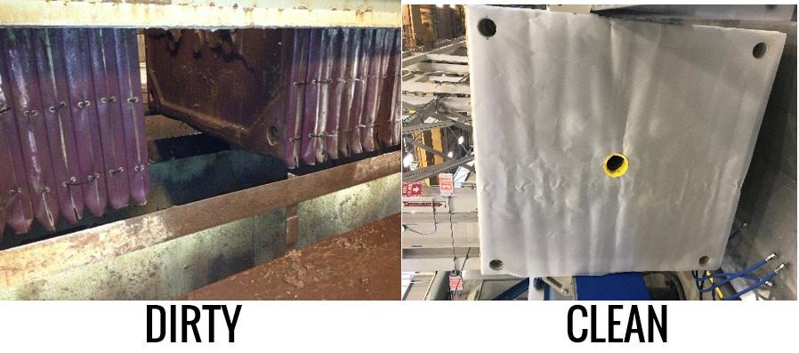 Dirty vs Clean Filter Press