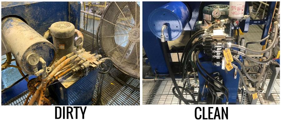 Dirty vs Clean Hydraulic Pressure Unit